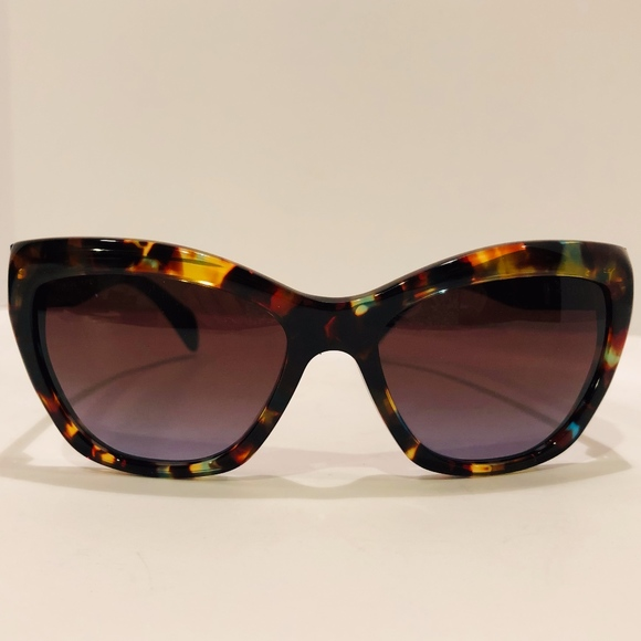 7322ed4ae044 Prada Accessories | Nwt Women Cat Eye Sunglasses Havanaspot Blue ...